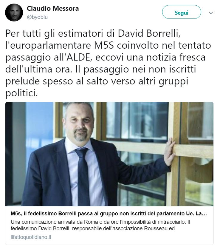 claudio messora david borrelli