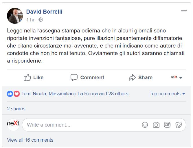 David Borrelli esce dal gruppo del M5S al Parlamento Europeo
