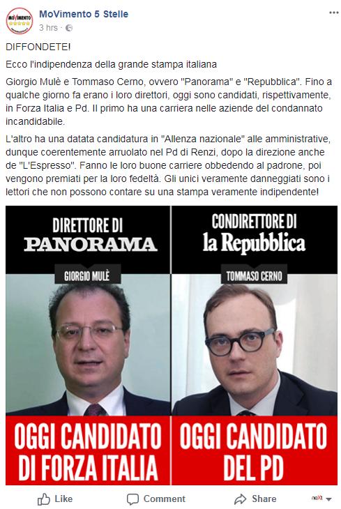 m5s mulè cerno giornalisti candidati - 1