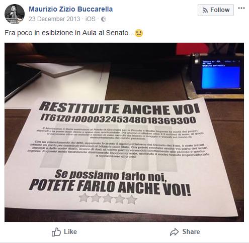 maurizio buccarella rimborsi restituzioni rimborsopoli - 1