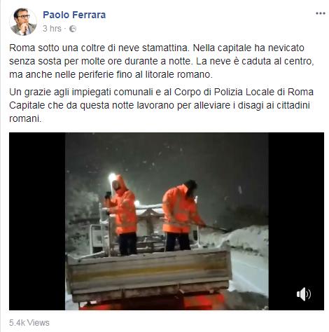 paolo ferrara neve roma spargisale - 3