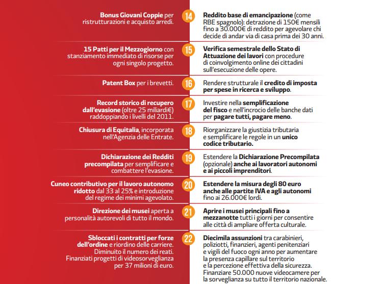 programma pd elezioni 2018 costo coperture - 6