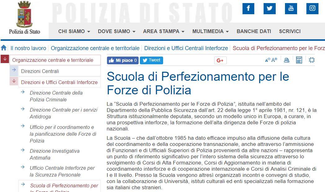 rivista clandestina scuola di polizia