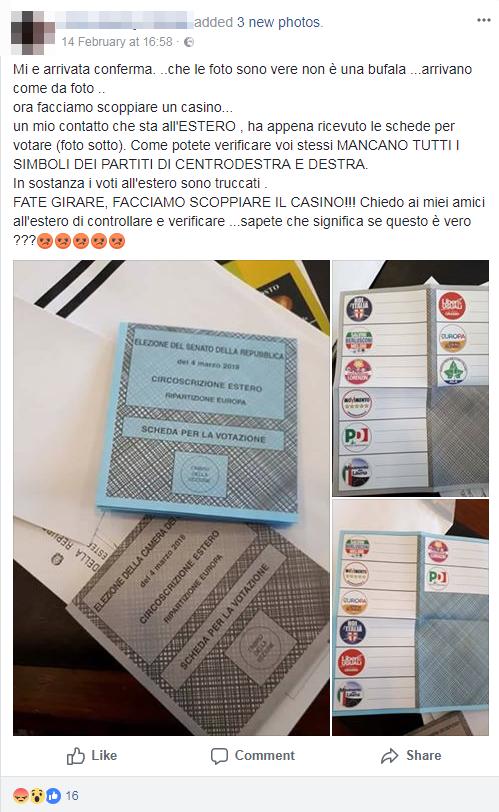 schede elettorali estero elezioni 2018 simbolo centrodestra - 9