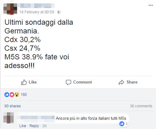 sondaggi falsi m5s - 3