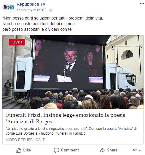 borges insinna amicizia funerali frizzi renzi - 4
