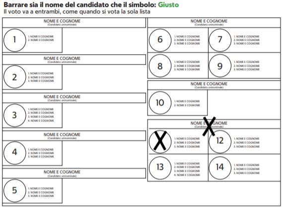 come si vota alle elezioni politiche 2018 scheda 2