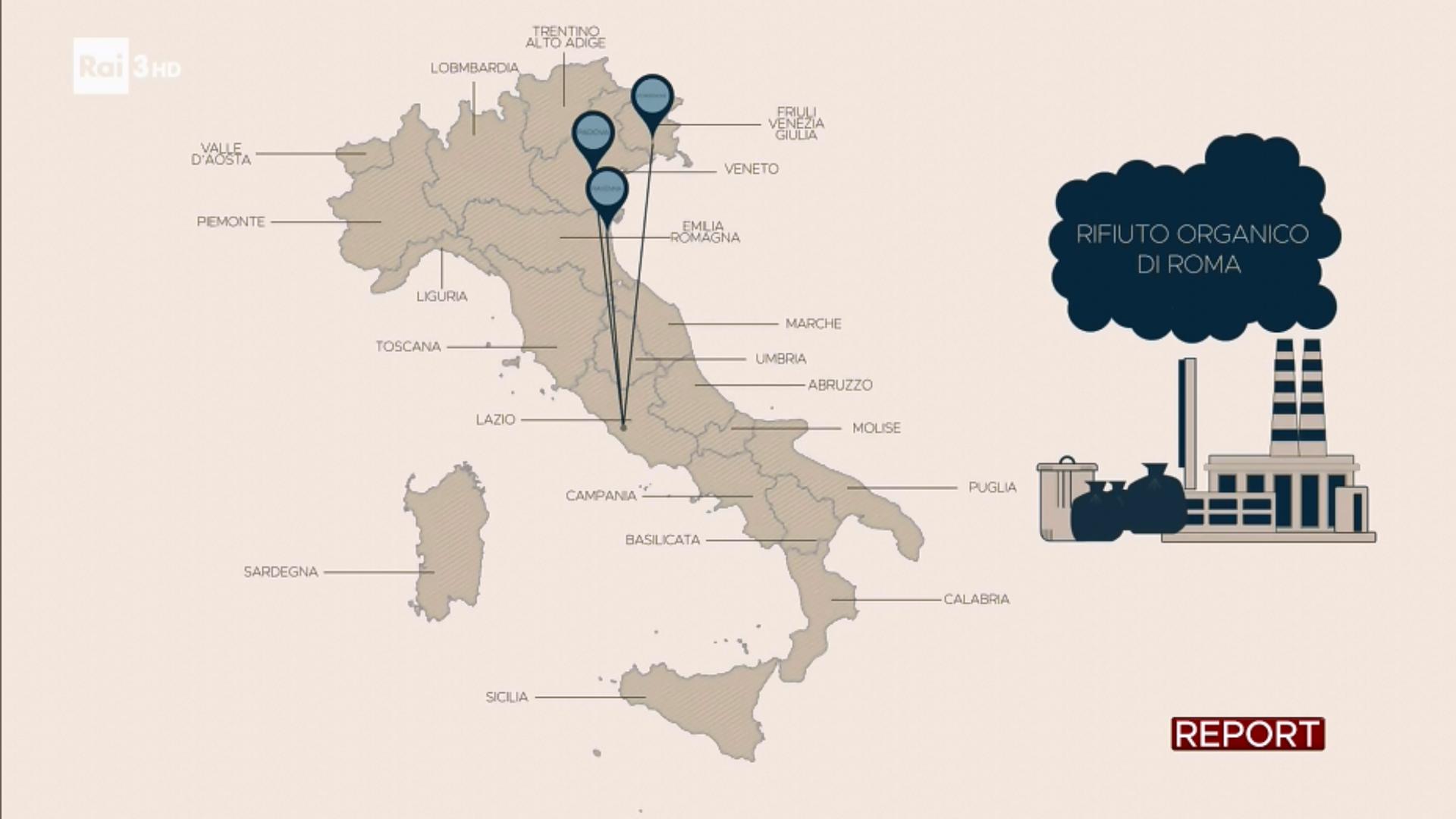 dove va rifiuto organico roma report - 1
