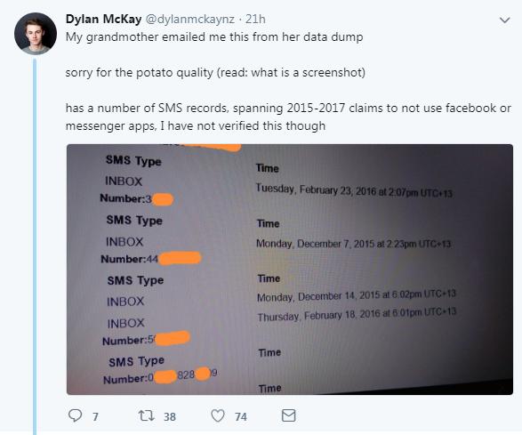 facebook sms chiamate registra dylan mckay - 6