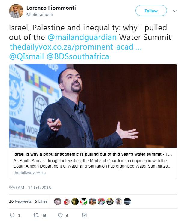 fioramonti ambasciatore israele boicottaggio - 2