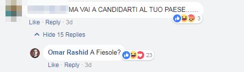 omar rashid insieme insulti politiche 2018 firenze - 5