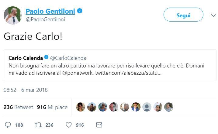 paolo gentiloni carlo calenda pd
