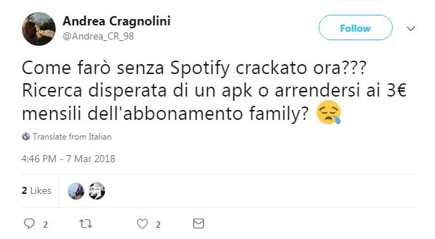 spotify crack crackato utenti bloccati - 4