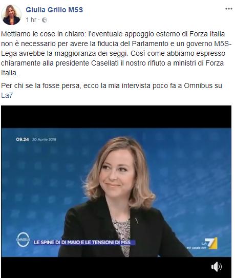appoggio esterno forza italia m5s governo di maio - 1