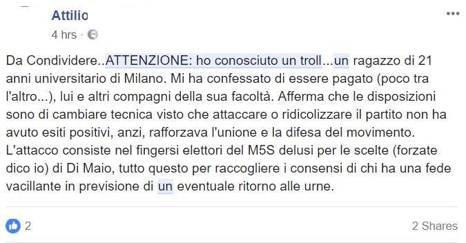 complotto troll m5s 2