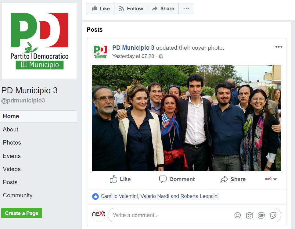 pd roma primarie III municipio