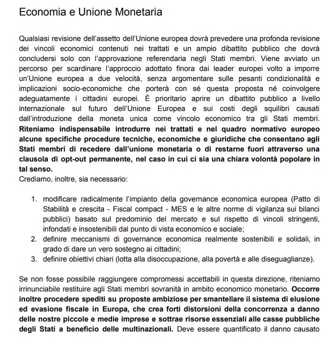 programma m5s cambiato voto blog rousseau euro unione monetaria europea - 3