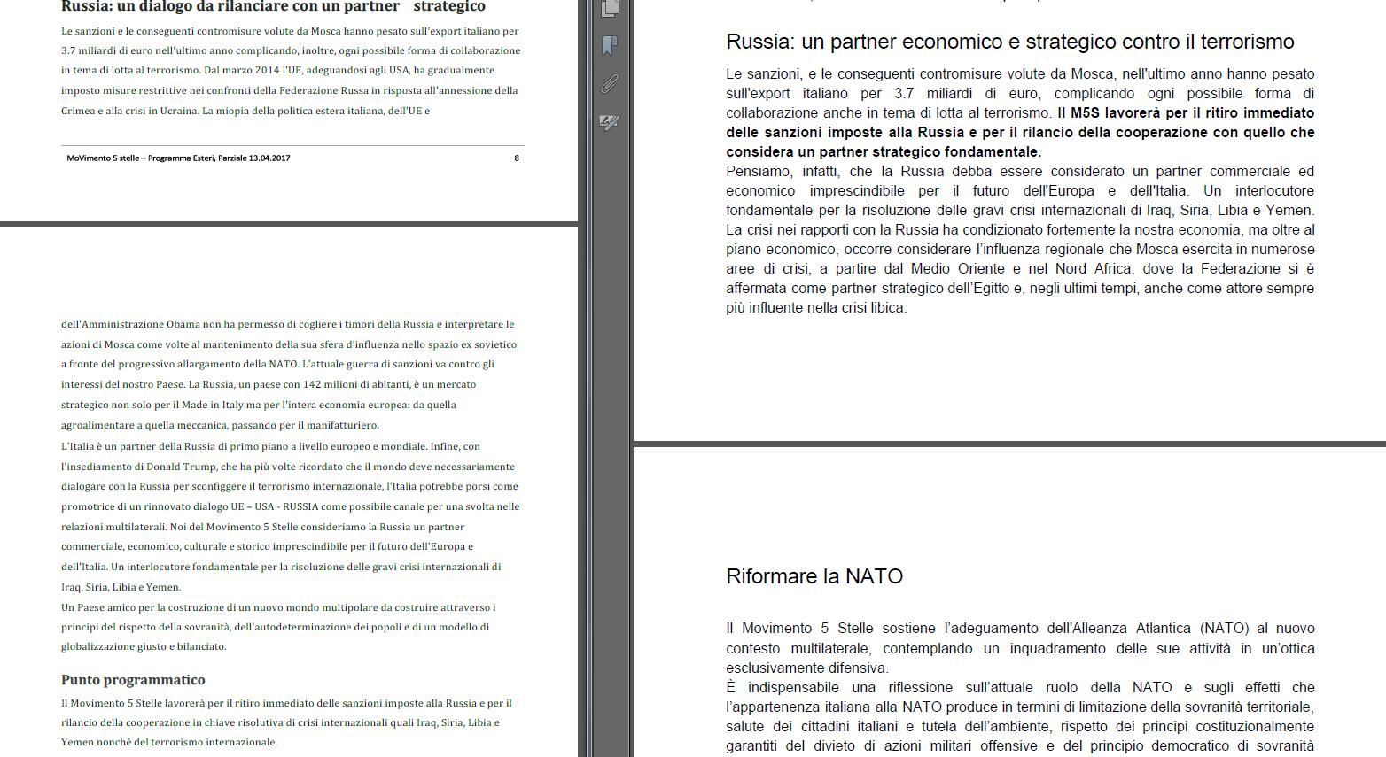 programma m5s cambiato voto blog rousseau russia filorusso - 2