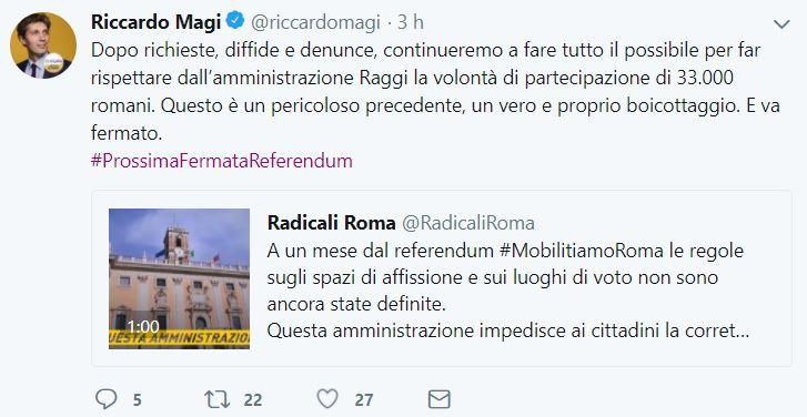 La sindaca di Roma Virginia Raggi rinvia il referendum Atac in autunno
