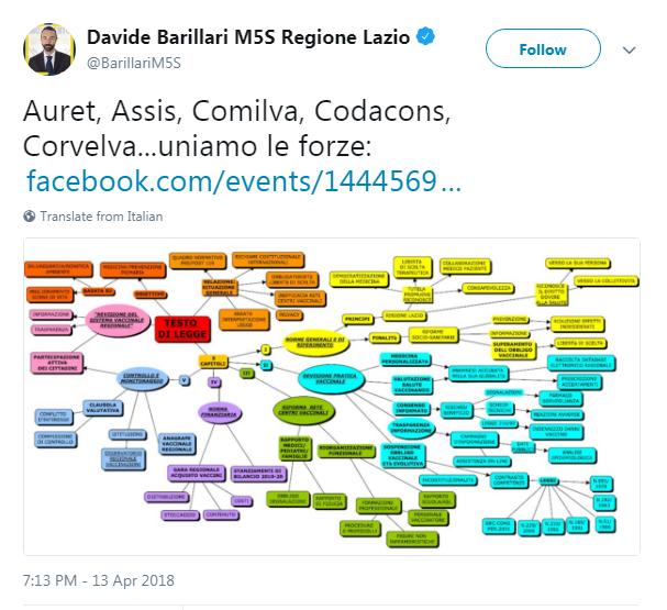 tavolo tecnico vaccini legge barillari m5s comilva auret corvelva - 2