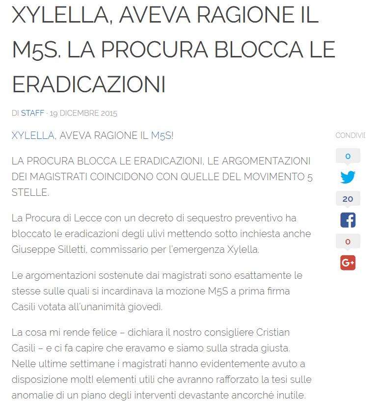 M5S PUGLIA XYLELLA ERADICAZIONI - 1