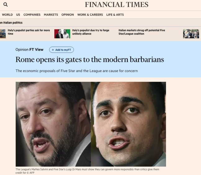 financial times barbari roma