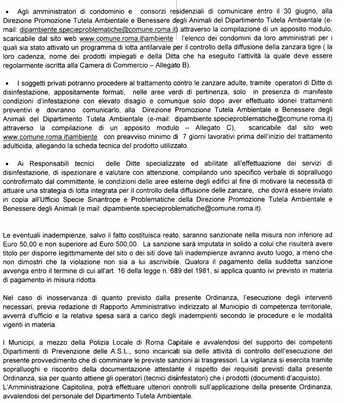 massimiliano quaresima m5s ordinanza anti zanzare roma - 2
