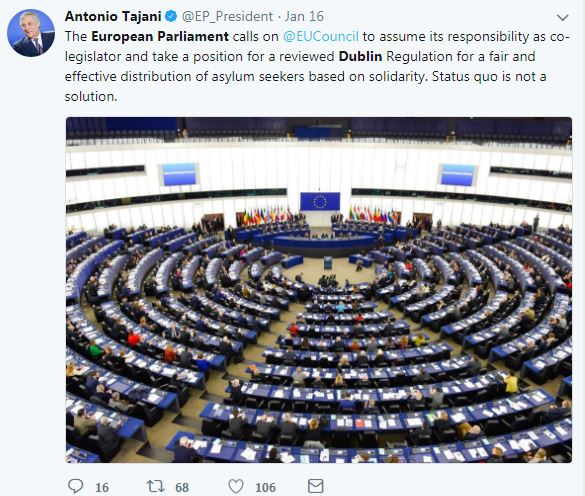 UE, riforma Dublino; no anche dalla Germania